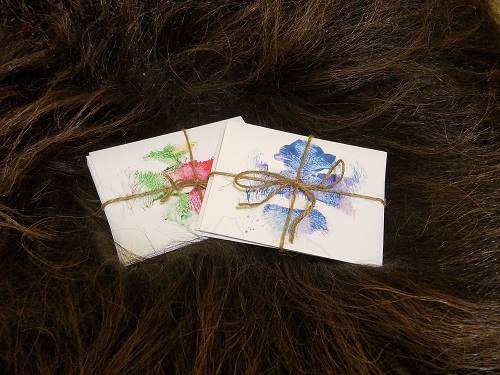 Muskox Kiss Notecards